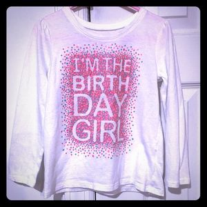 🎀 4/$15 The Children's Place Birthday Top Size 4T